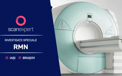 Investigații de tip RMN speciale și de înaltă performanță la Centrele de Imagistica Medicala SCAN EXPERT Brașov și Iași
