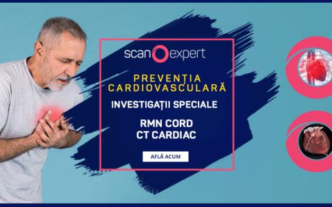 Preventia Cardiovasculara prin investigatii speciale: RMN CORD si CT CARDIAC