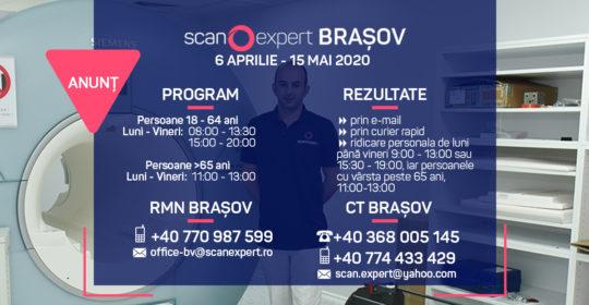 UPDATE 6.04.2020 ANUNT SCANEXPERT BRAȘOV – COMPUTER TOMOGRAF SI RMN