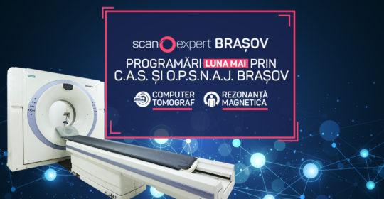 Scanexpert Brasov: Programari luna Mai prin C.A.S si O.P.S.N.A.J.