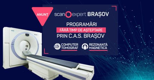Mai 2020: Scanexpert Brașov efectuează programări prin C.A.S. Brașov și O.P.S.N.A.J. pentru investigațiile de tip RMN si Computer Tomograf fara timp de așteptare