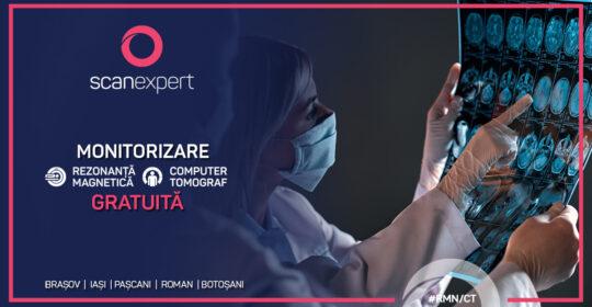 Pacienții asigurați beneficiază de investigații medicale gratuite la Centrele de Imagistică Medicală Scanexpert, cu scopul monitorizării acestora
